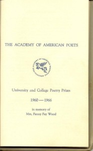 Excerpts from The Academy of American Poets - University and College Poetry Prizes Page 1 of 3